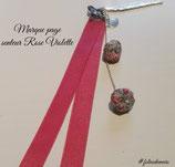 Marque Page Rose Violette