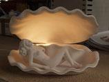 Muschellampe mit liegender Venus - ca. 35x25 cm