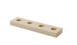 Seizoensplankje - hout - 4 gaten
