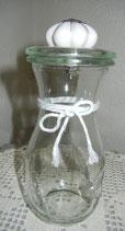 Weckglas, Deckel mit Möbelknauf/Keramik