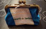 Clipbörse blau mit Edelweissstreifen