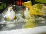 Glasblock mit drei Rechaudkerzen
