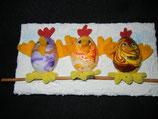 Keilrahmenbild: verrückte Hühner