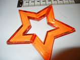 Acrybello Stern dunkel orange