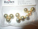 Plastik Rundperlen 10mm gold