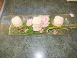Glasröhre dekoriert