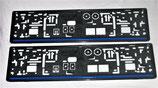 Kennzeichenhalterung (2 Stück) Polizei Thin blue line, dünne blaue Linie