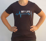 "T-Shirt mit großem Frontpatch ""My Life"""