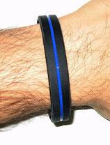 Silikon Armband thin blue Line