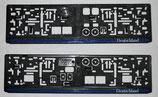 Kennzeichenhalterung (2 Stück) Polizei Thin blue line, dünne blaue Linie Deutschland