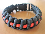 Paracord Armband thin red line ca. 23,5 cm Länge