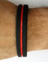 Silikon Armband thin red Line