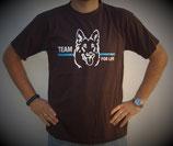 "T-Shirt mit großem Frontpatch ""Hund"""