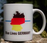 """Kaffeetasse """"Blaue Linie"""" oder """"Rote Linie"""" Motiv Deutschland"""