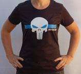 "T-Shirt mit großem Frontpatch""Schädel"""