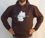 """Hochwertiges Kapuzensweatshirt mit Motiv """"Deutschland"""" als Frontpatch"""