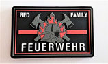 Klettpatch red family thin red line Feuerwehr ca. 8 x 5 cm