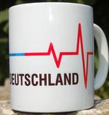 """Kaffeetasse """"Blaue Linie"""" und """"Rote Linie"""" Deutschland / Gemeinsam Stark"""