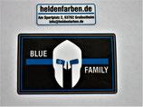 Aufkleber blue oder red Family