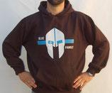 """Hochwertiges Kapuzensweatshirt mit Motiv """"Spartanerhelm"""" als Frontpatch"""