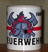 "Kaffeetasse Feuerwehr ""RED FAMILIY"""
