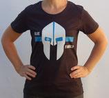 """T-Shirt mit großem Frontpatch """"Spartaner Helm"""""""