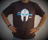 """T-Shirt mit großem Frontpatch """"Spartanerhelm"""""""