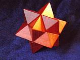 Stern rot 6 Teile (Kategorie: Mittelschwer)