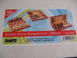 Schach, Dame, Backgammon rotbraun - NEU