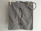 Einkaufstasche aus recycelter Baumwolle mit Hering