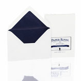 PAPER ROYAL-BRIEFUMSCHLAGPACK 20/C6 M.FARB.SF, WEISS GERIPPT
