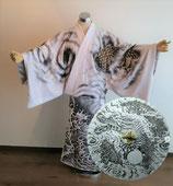 「着物+傘セット」画像はイメージです、ご希望の絵柄をお描きします