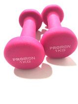 Pink Pair Of Dumbbels 1 kg