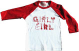 """Girly Girl"" White & Red ¾-Sleeved Shirt*"