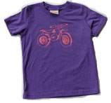 Dirt Bike Tee — Pink On Purple*