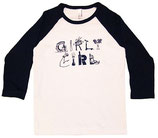 """Girly Girl"" White & Navy ¾-Sleeved Shirt*"