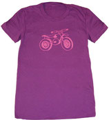 Dirt Bike Organic Tee — Pink On Purple*