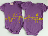 Toolbelt Snapsuit in Violet and Lemon (ORGANIC COTTON)