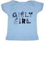 """""""Girly Girl"""" Baby Blue Short Sleeved Tee*"""