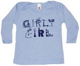 """""""Girly Girl"""" Baby Blue Long Sleeved Shirt*"""