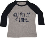 """Girly Girl"" Heather Gray & Navy ¾-Sleeved Shirt*"