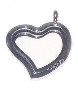 LOVE HEART big lucido colore silver