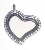 LOVE HEART big with strass