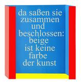Zitat aus der Kunstzeitung von Karlheinz Schmid und Gabriele Lindinger