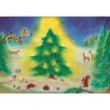 Kerstfeest in het bos
