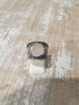 Bague quartz rose anneau large