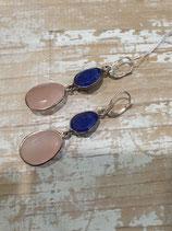 Boucle Quartz et lapis Lazuli