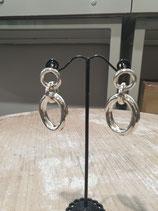 Boucles 3 anneaux argent