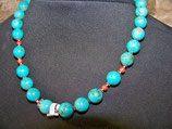 collier perles en turquoise