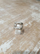 Bague argent massif rectangle